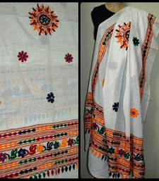 Buy White Kutch Embroidery Duppatta stole-and-dupatta online