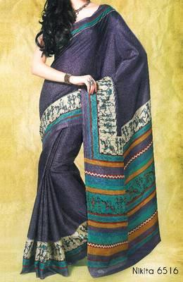 Fancy Cotton Saree Sari - Printed Saree - With blouse - Riyaa