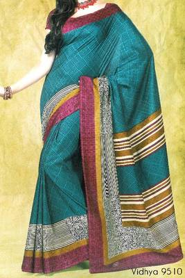 Fancy Cotton Saree Sari - Printed Saree - With blouse - 902631 9510