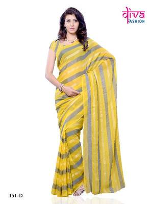 Pretty Woman - Party Wear Saree made from Chiffon Fabric by Diva Fashion, Surat