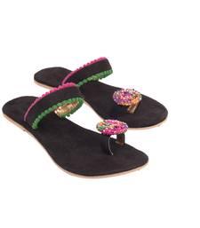 Buy BEAD WORK TOE BUTTION FLAT footwear online