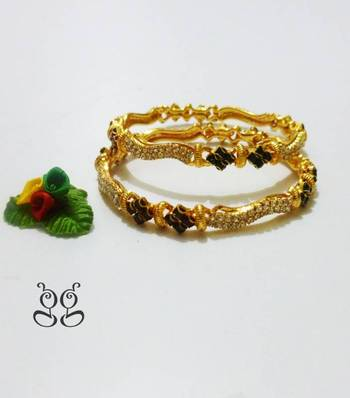 Gold Plated Bangles 2'6""
