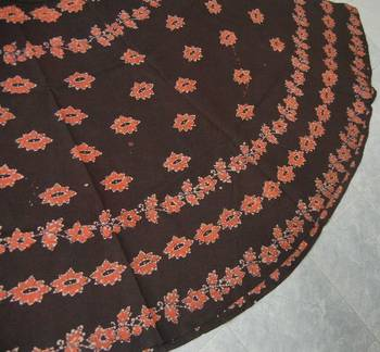 Hand Batik Printed Cotton Wrap Around Skirt