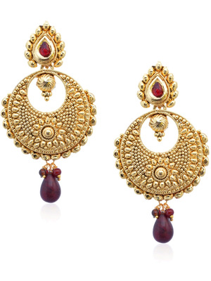 Marsala Dainty Drop Earrings-RAE0029