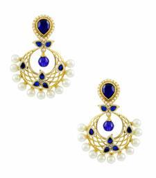 Buy Royal Blue Traditional Rajwadi Dangle Earrings Jewellery for Women - Orniza danglers-drop online
