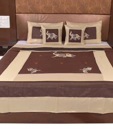 Buy Polysilk Embroidered Bed Cover Set bed-sheet online