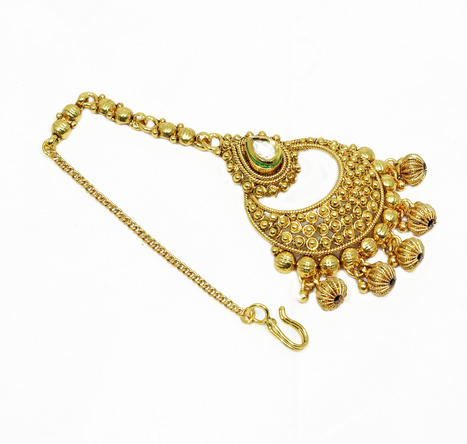 pinterest traditional costume jewelry pin jewellery mathapathi pearl kundan fashion indian jewels