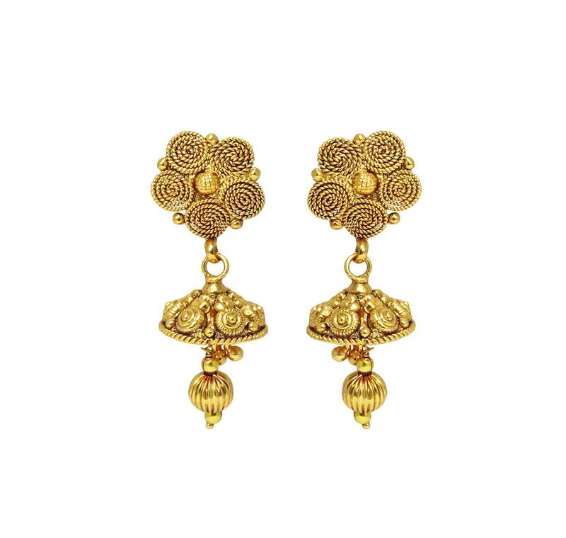 Buy Traditional & Antique Design Gold Plated Necklace With Earring ...