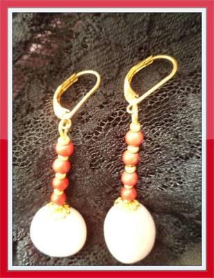 White Agate Earrings - Aliff Lailaa-1010