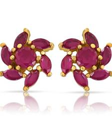Buy Mahi Captivating  Earrings With Gold Plating stud online