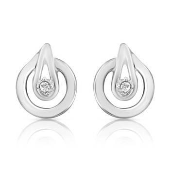 Mahi Spectacular Earrings With Rhodium Plating