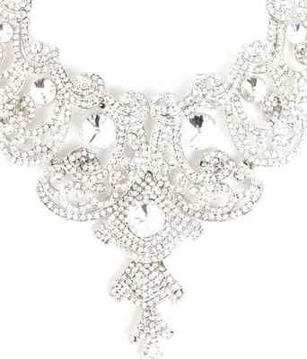 Aradhyaa Designer CZ Studded Necklace Set With Maang-tika