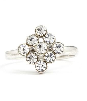 Aradhyaa Rhombus CZ Studded Ring - Online Shopping for Rings by Aradhyaa Jewel Arts