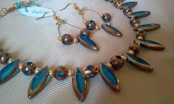 Antique Blue Necklace Set