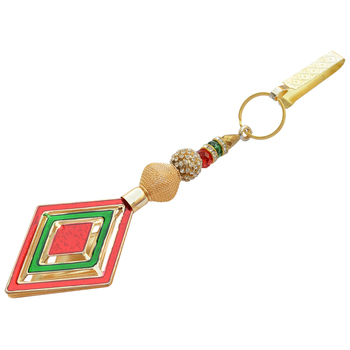 Foppish Mart Red & Green Desire Saree Challa/ Waist Key Chain/Satka