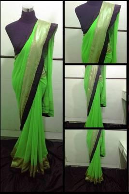 Green Copper saree