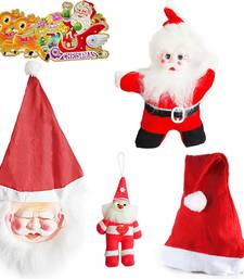 Buy Santa Claus Toys Mask n Santa Cap Christmas Gift 105 christmas-decoration online