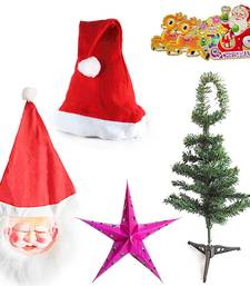 Buy Christmas Tree Big Star Santa Mask n Santa Cap Gift 107 christmas-decoration online