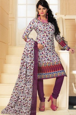 Cotton dress material elegant designer unstitched salwar suit d.no 1421