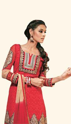 Hypnotex Cotton Maroon  Color Designer Dress Material River2101