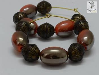 Tribal Orange Earring