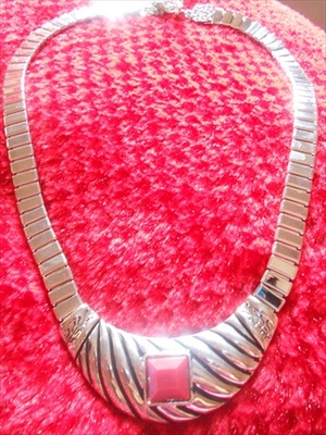 Red Stone Necklace-100170