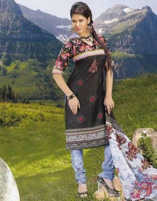 Elegant Cotton Dress Material Unstiched Salwar Kameez Suit D.NO. PB10005