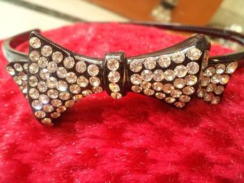 Stone Studded Hair Band-Aliff Lailaa-110177