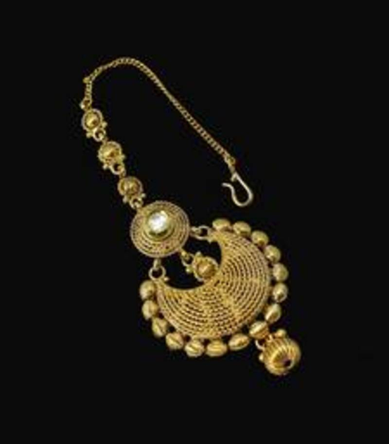Buy Designer Gold Plated & Stylish Golden Pearl Maang