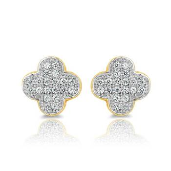 Mahi Gold Plated Luscious Earrings With CZ Stones
