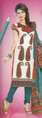 Dress Material Crepe Designer Prints Unstitched Salwar Kameez Suit D.No AP912