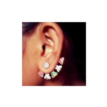 Heena Jewellery Multicolor Butterfly Ear-cuff