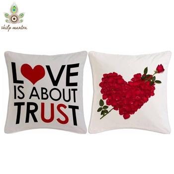 Love Is life Digital Print Cushion Covers