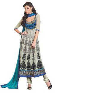 Sahiba Pure Georgette Cream Color Designer Dress Material Anar3708