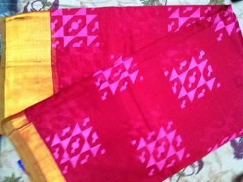 Red silk cotton