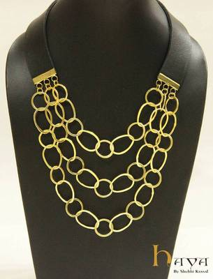 Gold chains Neckpiece