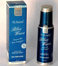 Buy AL NUAIM BLUE WAVE 100ML 1200 SHOTS PERFUME gifts-for-her online