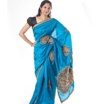 Sapphire Blue Kalamkari