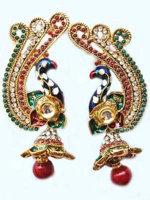 Maayra Beautiful Peacock Wedding Earrings