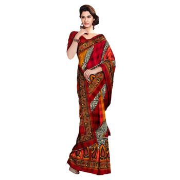 Hypnotex Bhagalpuri Maroon Color Designer Saree Fig2322A