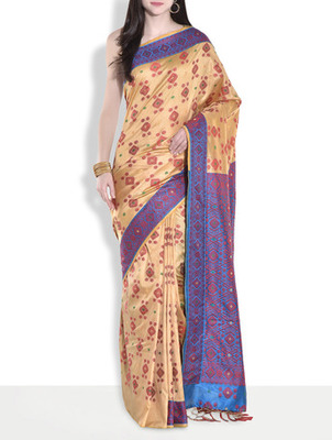 Blue hand_woven handloom saree with blouse