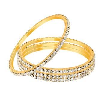 Mahi Gold Plated Winsome Beauty Bangles
