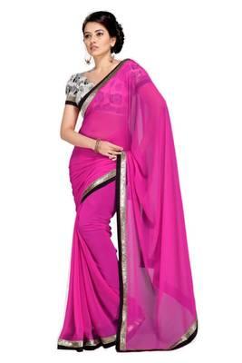 Gorgeous Elegant Georgette Designer Saree With Silk Blouse Piece D.No A7057