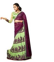 Buy Hypnotex Rasal Net and Georgette Green Color Designer Dress Material Starplus7217 lehenga-saree online