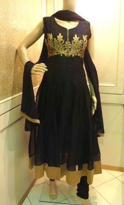 Black Gold Aari Work Anarkali
