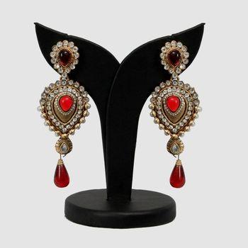 The rajshahi jadau Earrings