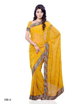 Enticing casual/party wear saree with shaded color and floral weaving pattern by DIVA FASHION-Surat