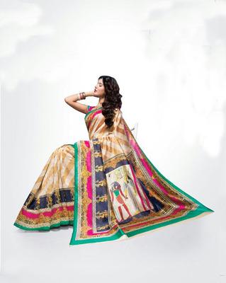 ISHIN Bhagalpuri Silk Multicolour Saree BCVIP-8517