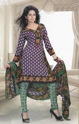 Dress Material Crepe Designer Printed Unstitched Salwar Kameez suit d.no 13009