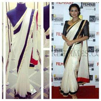 Diya Mirza in White Saree